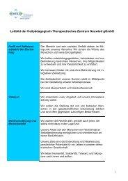 Leitbild der Heilpädagogisch-Therapeutisches ... - HTZ Neuwied