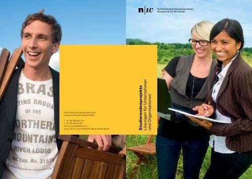 Broschüre Studierendenprojekte - Fachhochschule Nordwestschweiz