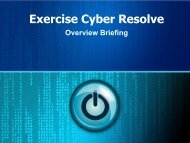Exercise Cyber Resolve Overview - City of Huntsville