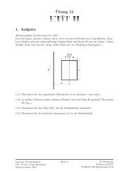 ¨Ubung 12 1. Aufgabe - Fachgebiet Hochspannungstechnik