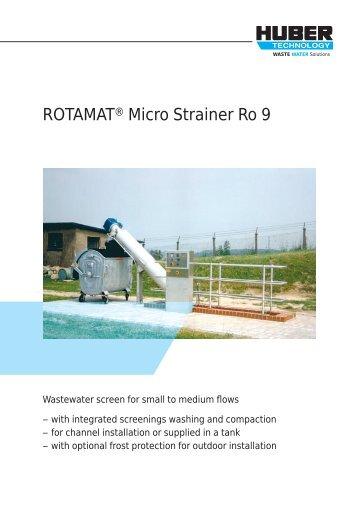 ROTAMAT® Micro Strainer Ro 9