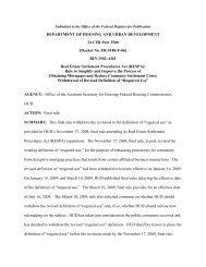 DEPARTMENT OF HOUSING AND URBAN DEVELOPMENT ... - HUD