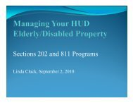 Sections 202 and 811 Programs - HUD