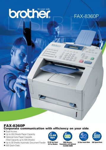 FAX-8360P - Brother International