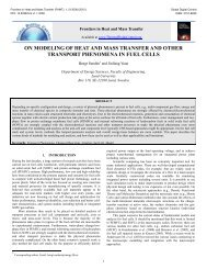 ON MODELING OF HEAT AND MASS TRANSFER AND OTHER ...