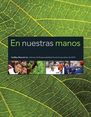 Resumen de CSR 2011 (PDF 2,83 MB) - Hudbay Minerals