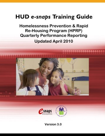 HPRP Quarterly Performance Reporting - OneCPD