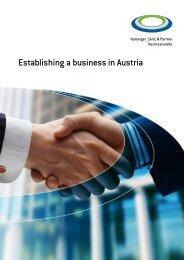 Establishing a business in Austria