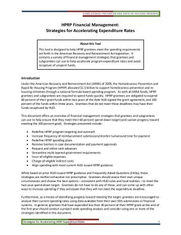 HPRP Financial Management Strategies for Accelerating ... - OneCPD