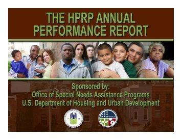 HPRP APR Webinar Slides - OneCPD