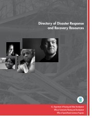 Directory of Disaster Response and Recovery Resources - OneCPD