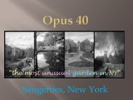 Opus 40 Garden - The Hudson River Valley Institute