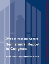 Semiannual Report to Congress - HUD
