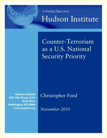 International Terrorism as a National Security ... - Hudson Institute