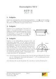 Zusatzaufgaben Teil 2 1. Aufgabe 2. Aufgabe 3. Aufgabe