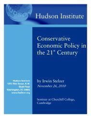Conservative Economic Policy in the 21 Century - Hudson Institute