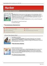 Deutsch als Fremdsprache 1/2011 - Hueber