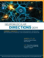 Neuromuscular Directions 2011 - Hospital for Special Surgery