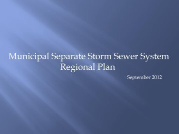 The Navigator's Presentation on Municipal Separate Storm Sewer ...