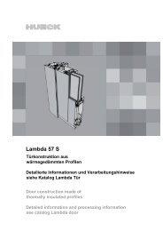 Einsatzelemente Lambda Tür 57 S - HUECK + RICHTER Aluminium ...