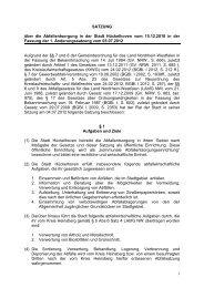 Satzung über die Abfallentsorgung [PDF, 171 KB] - Stadt Hückelhoven