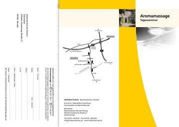 Aromamassage - Hufeland-Schule Senden