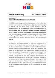 Medienmitteilung deutsch - Hug AG