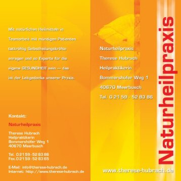 Naturheilpraxis - Hufeland-Schule Senden