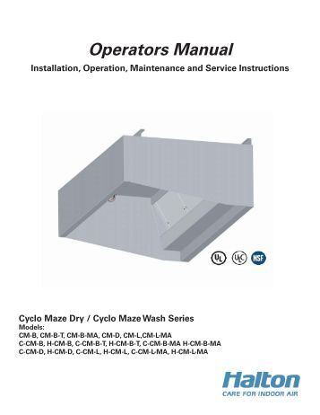 kvc operators manual halton company