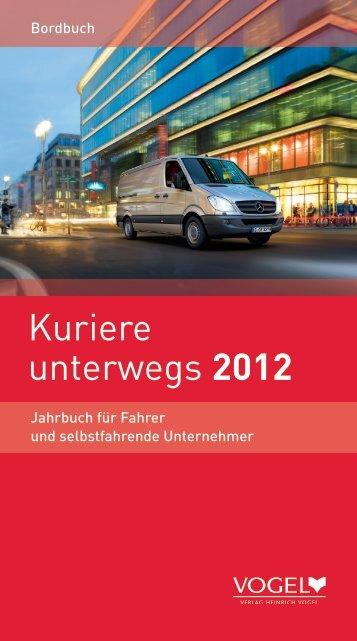 Kuriere unterwegs 2012 - Verlag Heinrich Vogel