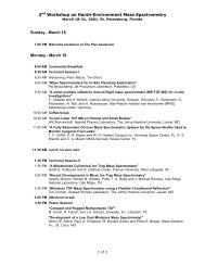Program (.pdf) - Harsh-Environment Mass Spectrometry