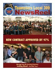 August 2010 - Teamsters Local 399