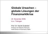 Globale Ursachen - Henrik Enderlein