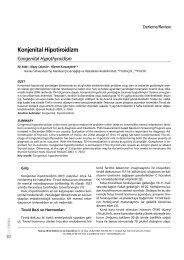 Konjenital Hipotiroidizm - Güncel Pediatri Dergisi