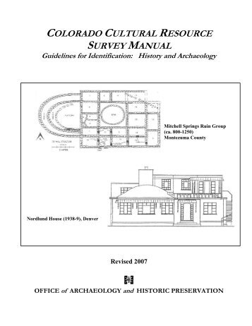 Colorado Cultural Resource Survey Manual - History Colorado
