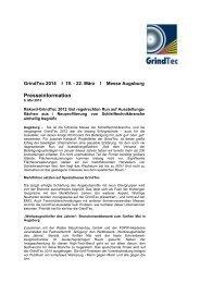 Rekord-GrindTec 2012 löst regelrechten Run auf Ausstellungs ...