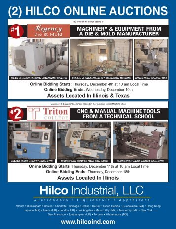 (2) HILCO ONLINE AUCTIONS Hilco Industrial, LLC