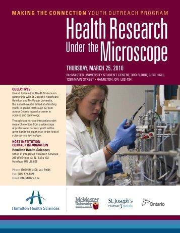 Event Program - Hamilton Health Sciences
