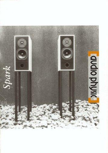 flyer «ungewöhnlich ausgewogen - Audio Physic