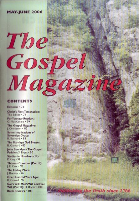 May-June - The Gospel Magazine