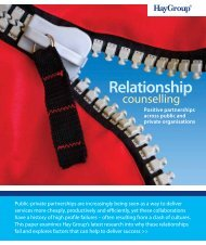Relationship counselling. Positive partnerships across ... - Hay Group