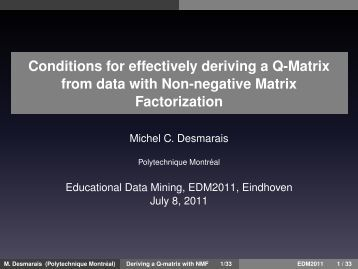Conditions for effectively deriving a Q-Matrix from data with Non ...