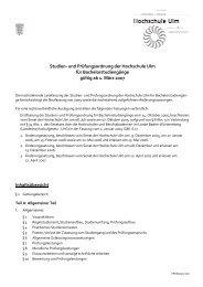 Studien- und Prüfungsordnung der Hochschule Ulm für ...