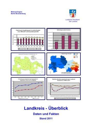 Landkreis-Überblick 2011 -Stand-2013-01-28 - Landkreis Havelland