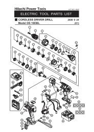 DS18DBL Exploded Diagram and Parts Listing - Hitachi