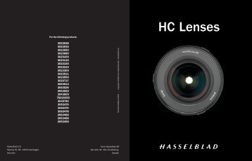 HC Lenses Lens Book - Hasselblad