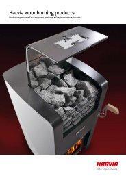 Harvia woodburning products