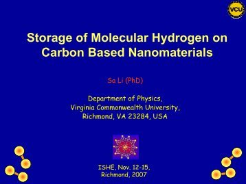 Pd doped carbon nanotube - Virginia Commonwealth University