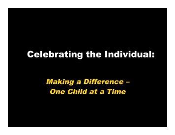 Celebrating the Individual: