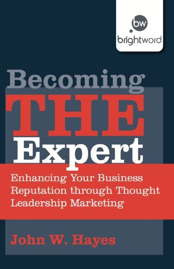 Read a PDF Sample of Becoming THE Expert - Harriman House